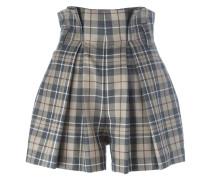 high waist tartan shorts