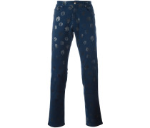 Jeans mit Medusa-Print
