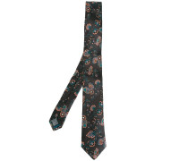 floral embroidered tie
