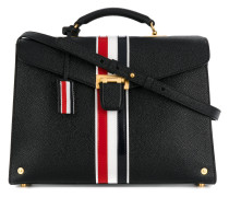 Unstructured Mrs Thom With Red, White And Blue Vertical Stripe In Pebble Grain Calf Leather