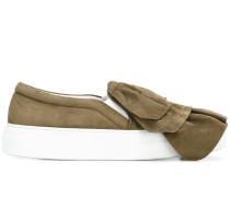 Slip-On-Sneakers mit Rüschen