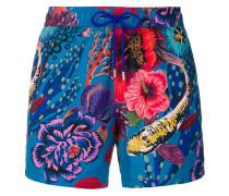 marine print swimming shorts