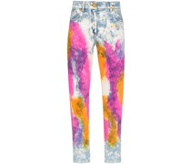 Jeans mit Batikmuster