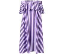 Schulterfreies Kleid mit Streifenmuster