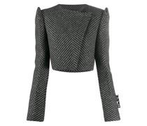 Cropped-Jacke mit extravaganten Schultern