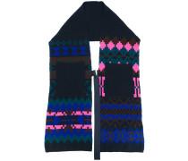 Intarsien-Schal mit Pixelmuster