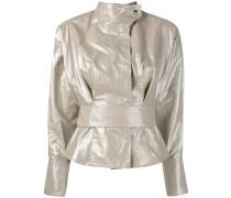 - Cropped-Jacke mit Taillenband - women