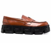 Greca-pattern oversize-sole loafers