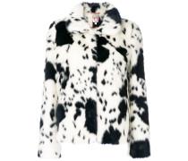 faux fur dalmatian jacket