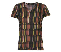 deep v neck printed t-shirt