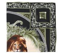 Seidenschal mit Löwenmotiv