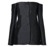 off-shoulder tailored blouse