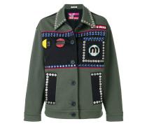 crystal-embellished field jacket