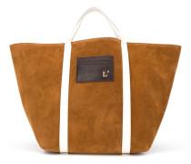 Handtasche mit Kontrasthenkeln
