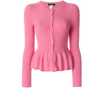 frill-trim fitted cardigan