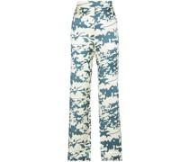 London Pyjama-Hose mit Blatt-Print