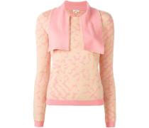 Pullover mit Designkragen
