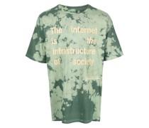 slogan-print tie-dye T-shirt