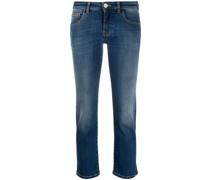 Cropped-Jeans mit tiefem Bund