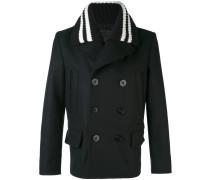 knitted collar car coat - men