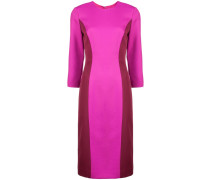Schmales Kleid mit Colour-Block-Optik