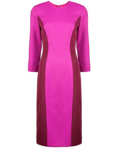 Schmales Kleid mit Colour-Block-Optik
