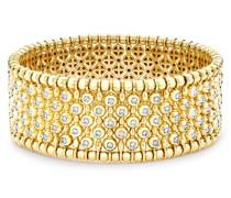 18kt Gelbgoldarmreif mit Diamanten