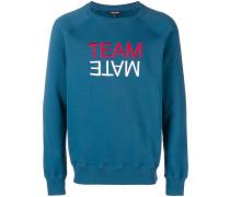 """Sweatshirt mit """"Team Mate""""-Slogan"""