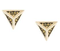 18kt 'Tetrahedron' Gelbgold-Ohrstecker