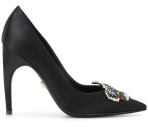 embellished Medusa Crown pumps