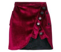 asymmetric buttoned skirt