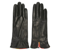 Handschuhe mit buntem Streifen