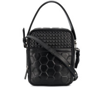 geometric quilted cross body bag