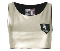 Cropped-Top mit Logo-Patch
