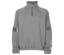 striped sleeve panel sweatshirt