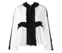 Bluse mit plissierten Borten