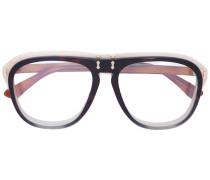 clear round frame sunglasses - unisex - Acetat
