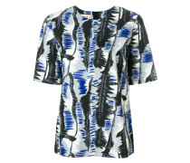River print poplin blouse