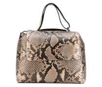 'Tipo Kelly' Pythonleder-Handtasche