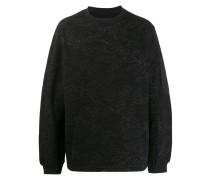 Sweatshirt mit Blatt-Print