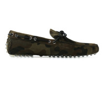 Loafer mit Camouflage-Print