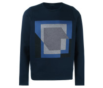Sweatshirt mit rechteckigem Print