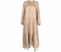 Gestuftes Anisa Kleid mit Lochstickerei