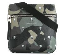camouflage print messenger bag