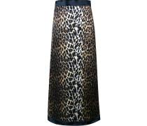 A-Linien-Rock mit Leopardenmuster