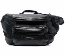 large Army leather belt bag