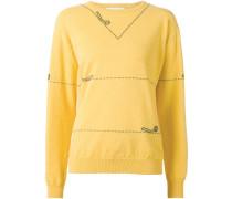Intarsien-Pullover mit Scherenmuster