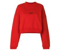 cropped mini logo sweatshirt