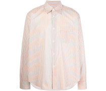 striped-print buttoned shirt