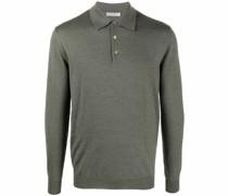 fine-knit wool polo shirt